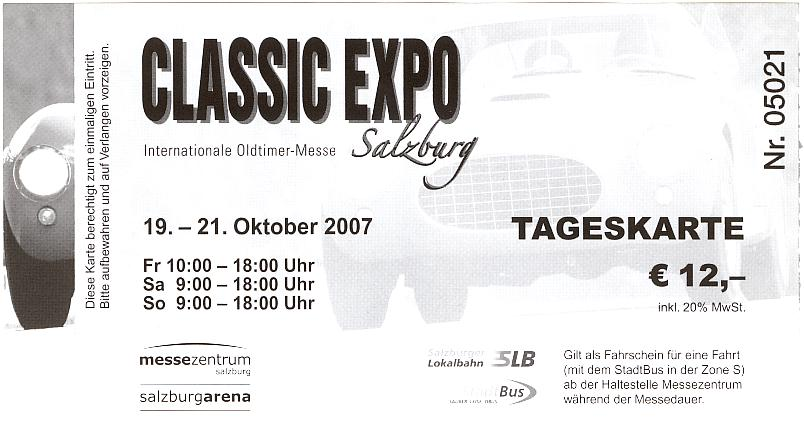 2007-10-20 Besuch Classic Expo Salzburg